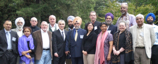 Banner image of various speakers from the Sikh and Punjabi Studies inaugural conference.